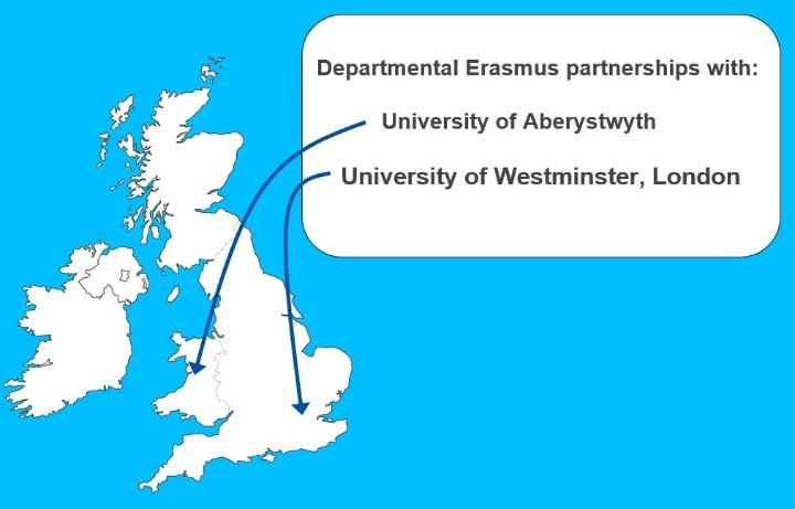 Karte des United Kingdom mit Standorten der Universitäten