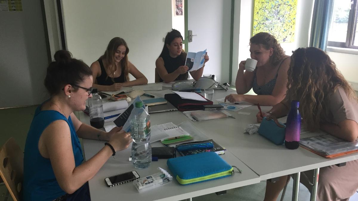 Auf unserem Fachgruppen-Wochenende im Sommer 2018 haben wir das kommende Semester geplant.
