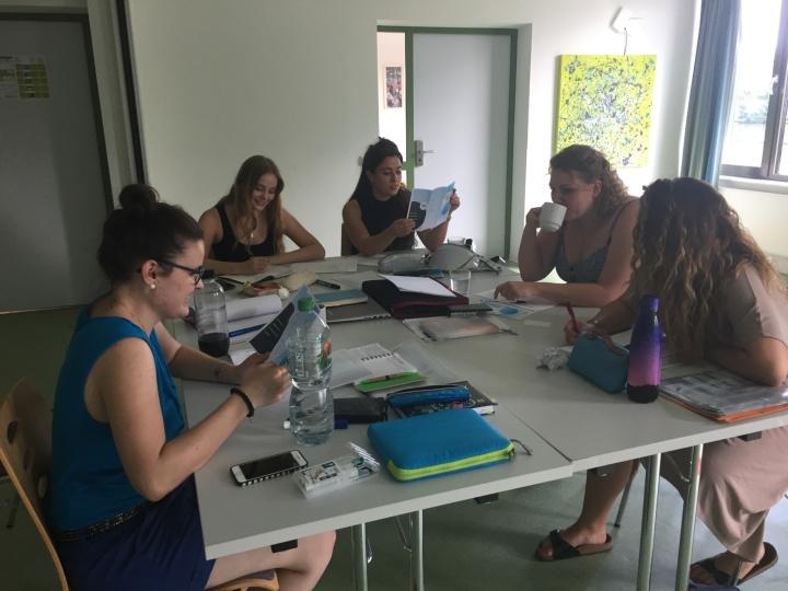 Auf unserem Fachgruppen-Wochenende im Sommer 2018 haben wir das kommende Semester geplant. (c) Fachgruppe Germanistik
